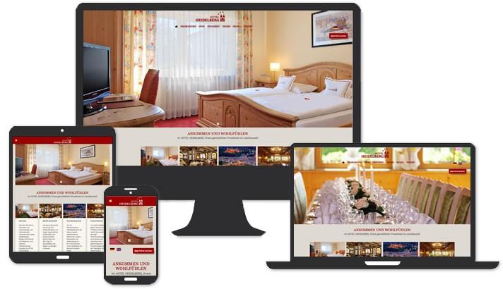 Webseite für Hotel Heidelberg