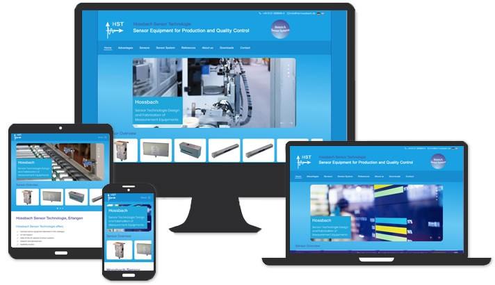 Webdesign Hossbach Sensor Technologie, Nürnberg - Fürth
