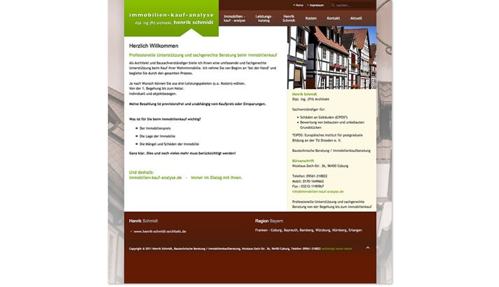 Website Architekt Coburg