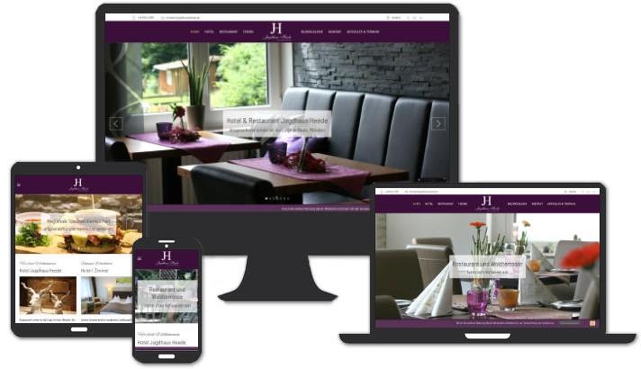 Website für Hotel & Restaurant Jagdhaus Heede, Hann. Münden