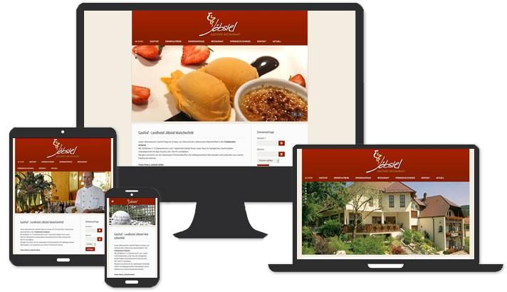 Webseite für Hotel - Gasthof & Landhotel Waischenfeld