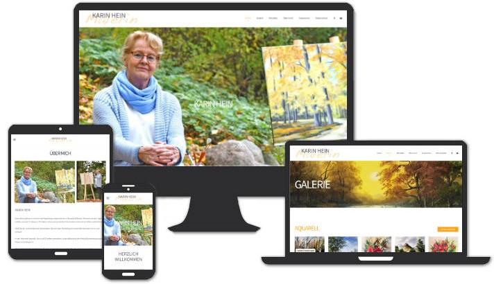 Homepage für Karin Hein, Malerin