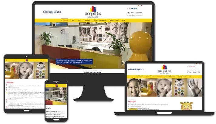 Webseite für Ihre Kinderärzte im Donau City Center - Ingolstadt