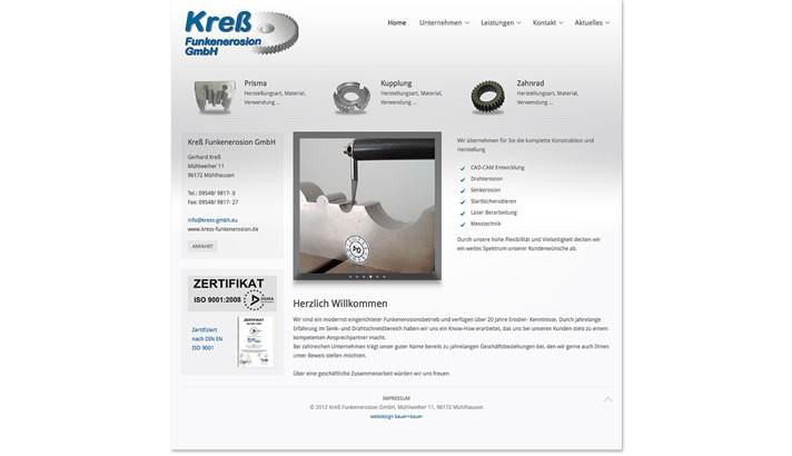 Website für Firma im Senk- und Drahtschneidbereich, Mühlhausen Höchstadt