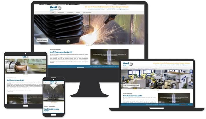Website für Erodiertechnik im Raum Erlangen Höchstadt