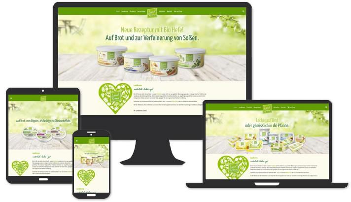 Webdesign Landkrone Naturkost und Naturwaren GmbH, Hamburg