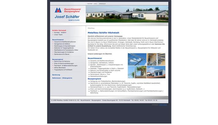 Firmen Homepage für Metallbau Höchstadt
