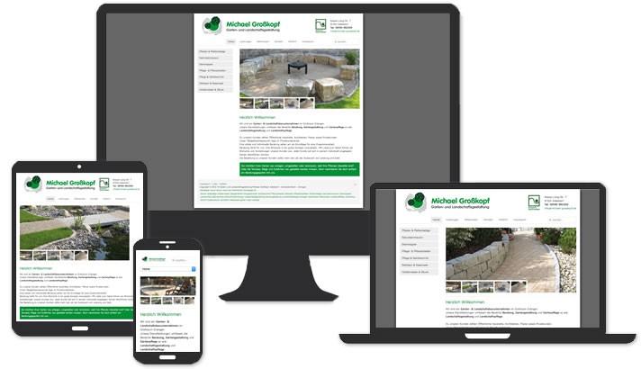 Webseite für Garten-und Landschaftsgestaltung Adelsdorf