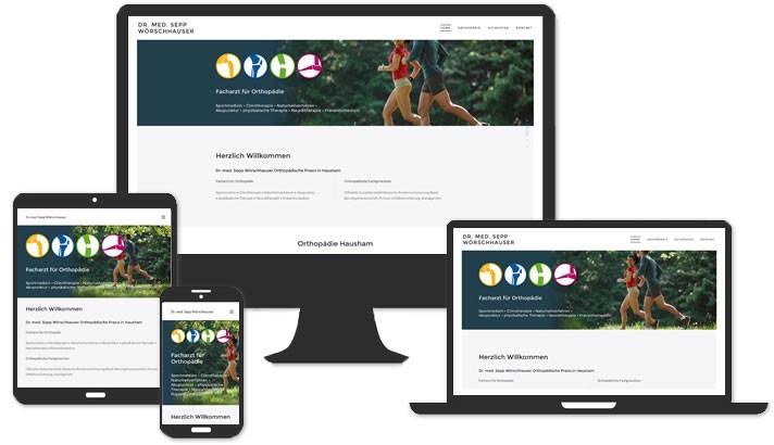 Website für Orthopädische Praxis Hausham
