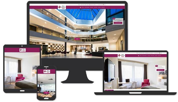 Webseite für Best Western Parkhotel Velbert