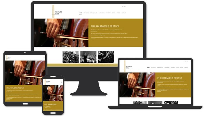 Website Philharmonie Festiva, Ebrach