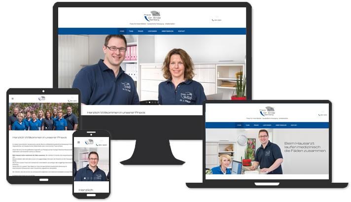 Homepage für Praxis Allgemeinarzt
