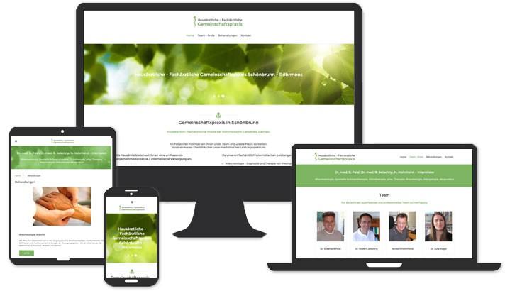 Webseite Ärzte Praxis Schönbrunn