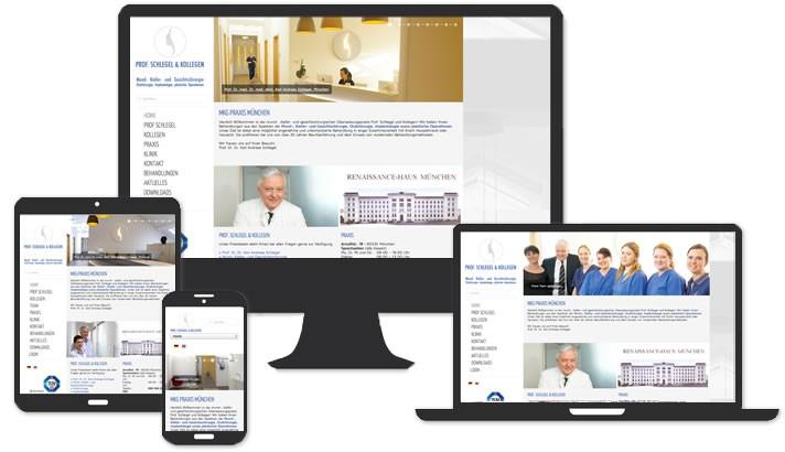 Webseite für MKG Praxis München