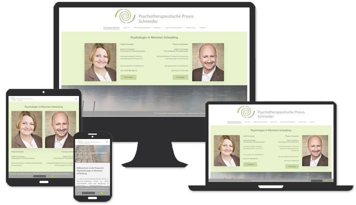 Webseite für Psychologen in München Schwabing