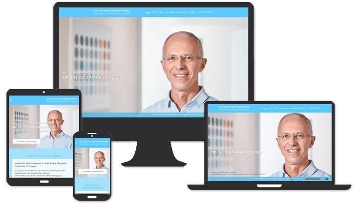 Webseite für Reha Medizin Detmold in Lippe