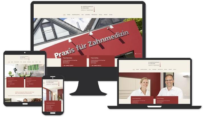 Homepage für Zahnarztpraxis Stammham & Greding