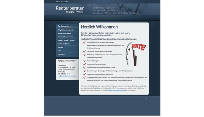 Webseite für Rentenberater in Höchstadt