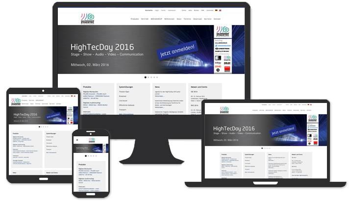 Webdesign Digitale Audiomischpulte & Audiorouting - Buttenheim