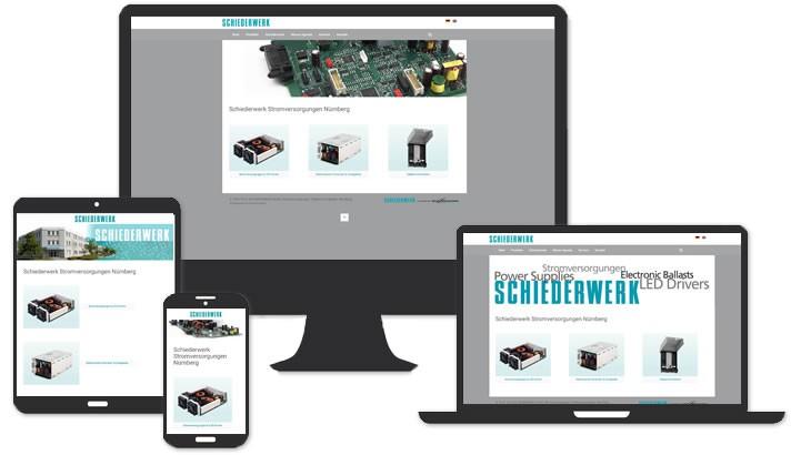 Webseite für Stromversorgungen u. Telekommunikation, Nürnberg