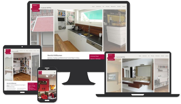 Webseite für Schreinerei, Coburg
