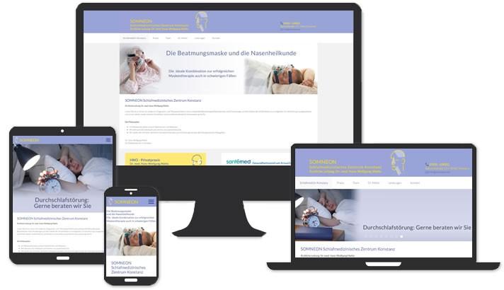 Webseite für Schlafmedizin Konstanz