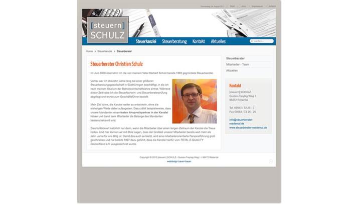 Homepage Erstellung für Steuerberater, Rödental