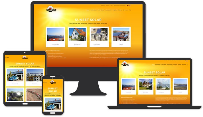 Website für Solar Firma Adelsdorf / Höchstadt