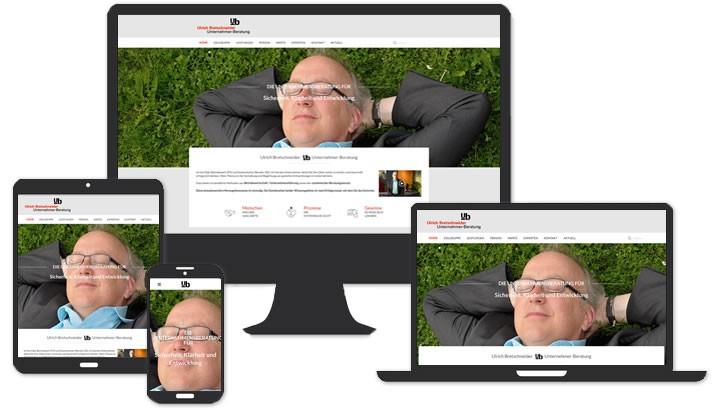 Webseite für Unternehmensberatung Coburg