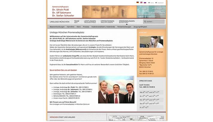 Praxishomepage Urologie Urologe München