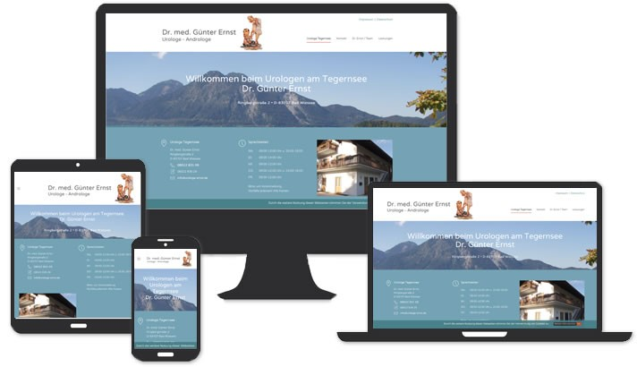 Website Urologe, Bad Wiessee - Tegernsee