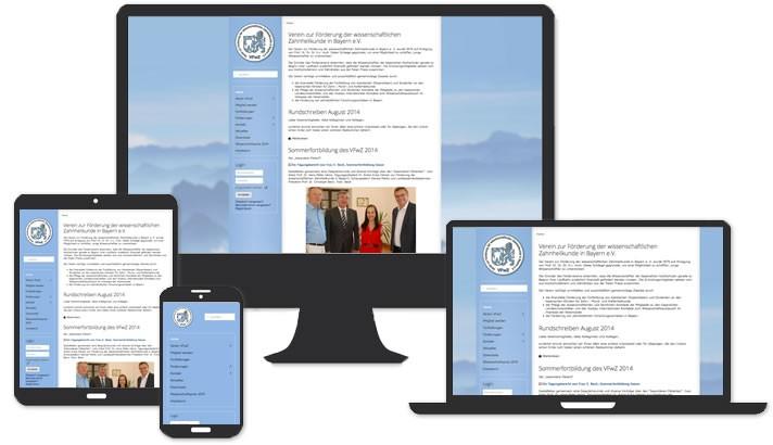Webseite für den Verein VFwZ München