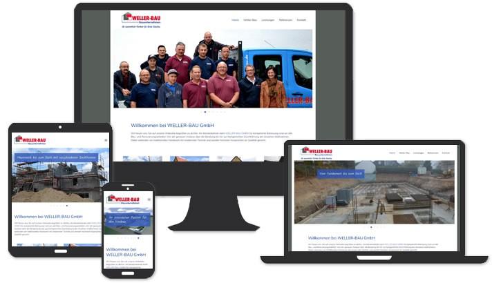 Webseite für Weller Bau GmbH