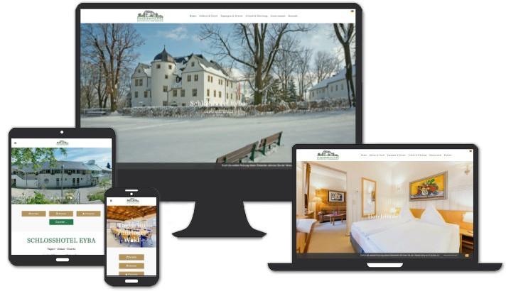 Webseite für Schlosshotel Eyba