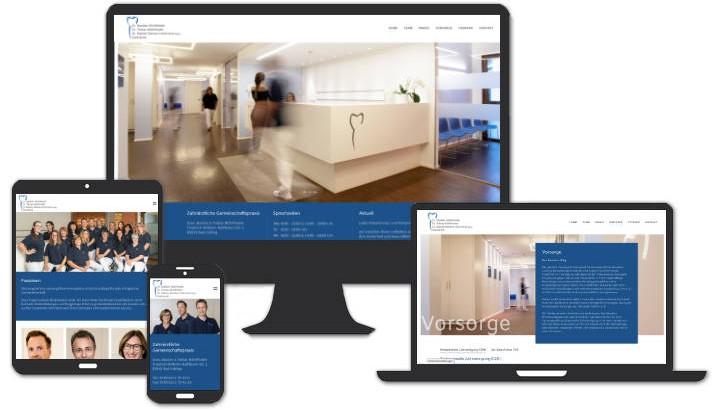 Webseite für   Zahnärztliche Gemeinschaftspraxis Dres. Bastian & Tobias Mühlfriedel, Bad Aibling