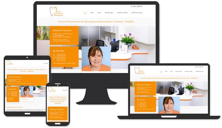 Homepage für Zahnarztpraxis Hannover - Mittelfeld